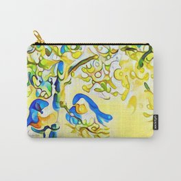 Yellow Bluebirds Sittin in a Tree, K I S S I N G by CheyAnne Sexton Carry-All Pouch