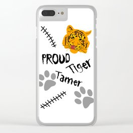 Proud Tiger Tamer Clear iPhone Case