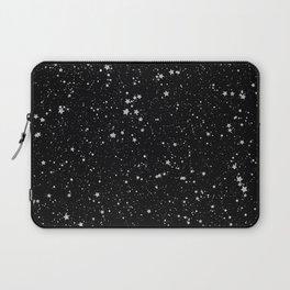 Glitter Stars2 - Silver Black Laptop Sleeve