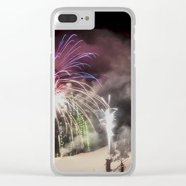 Winter Carnival Fireworks Clear iPhone Case