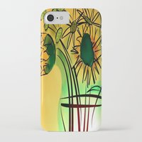 leah flores iPhone & iPod Cases featuring Flores by transFIGure