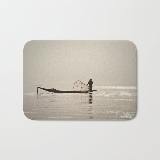 Inle Lake Myanmar Bath Mat