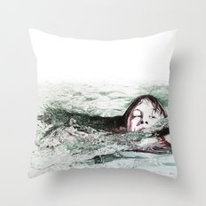 Go Swimming Throw Pillow
