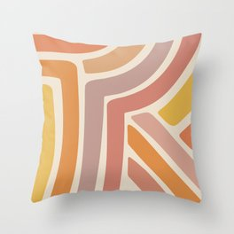 Abstract Stripes IV Throw Pillow