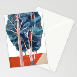 Orange light and tree Stationery Cards