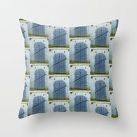 doors Throw Pillows featuring Closed Doors by Phil Perkins