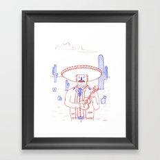 Mariachi in the Desert Framed Art Print