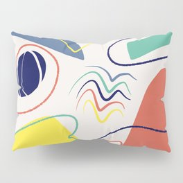 Colorful abstract canvas Pillow Sham