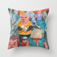 budapest Throw Pillows featuring metro Budapest by Zsolt Vidak