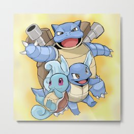 The evolutions of Squirtle Metal Print