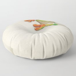 Little Red Eyed Tree Frog Floor Pillow