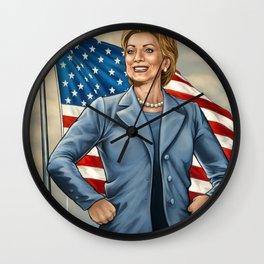 Female Force Hillary Clinton Wall Clock