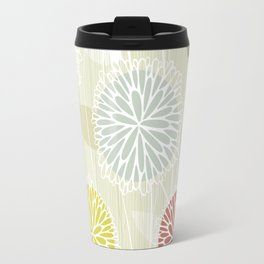 Abstract Floral Beige by Friztin Travel Mug