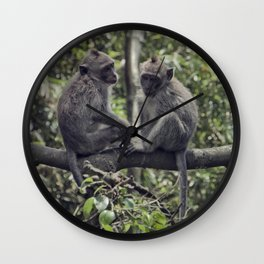 Monkey Love Wall Clock