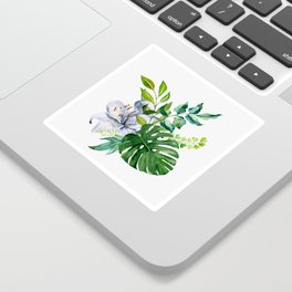 Flower and Leaves Sticker
