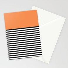 STRIPE COLORBLOCK {ORANGE} Stationery Cards