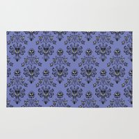 haunted mansion Area & Throw Rugs featuring Phantom Manor - Haunted Mansion by Katikut