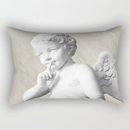 Ancient Sculpture Angel Decor Rectangular Pillow