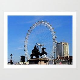 Boadicea supporting the London eye Art Print