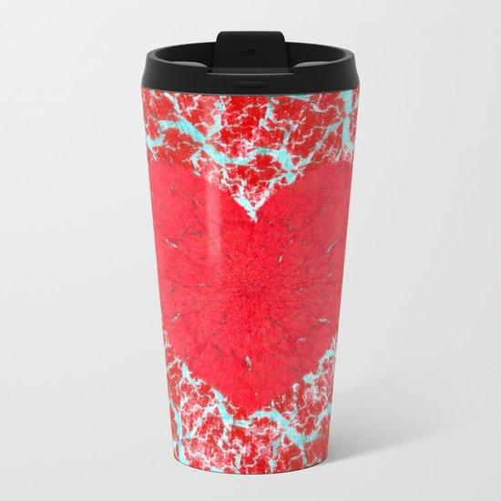 Frosty heart Metal Travel Mug