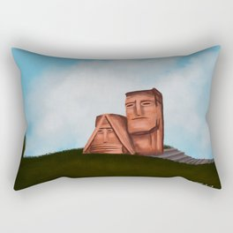 We are our mountains Rectangular Pillow