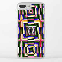 crooked squares Clear iPhone Case