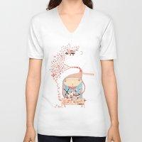 hero V-neck T-shirts featuring Hero by Nayoun Kim