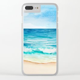 Sea Scenery #1 Clear iPhone Case