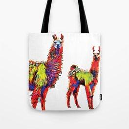 Electric Llamas Tote Bag