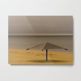 Falmouth Beach Umbrella, Cape Cod Metal Print