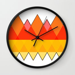 Abstract Autumn Triangles Wall Clock