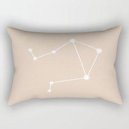 Libra Zodiac Constellation - Warm Neutral Rectangular Pillow