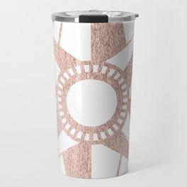 Rose Gold Compass Travel Mug