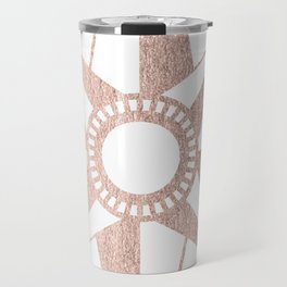 Rose Gold Compass Travel Mug