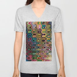 Abstract Composition 480 Unisex V-Neck