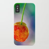 cherry iPhone & iPod Cases featuring Cherry by Lindsay Faye