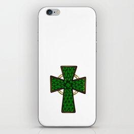 Shamrock Celtic Cross iPhone Skin