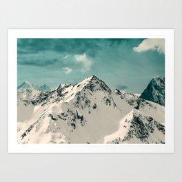 Snow Peak Art Print