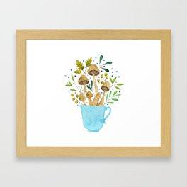 Relaxing Shrooms Framed Art Print