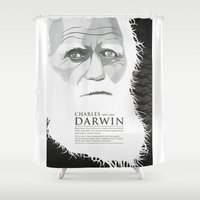 darwin Shower Curtains featuring Darwin by James Northcote