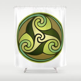Earthly Emblem Shower Curtain