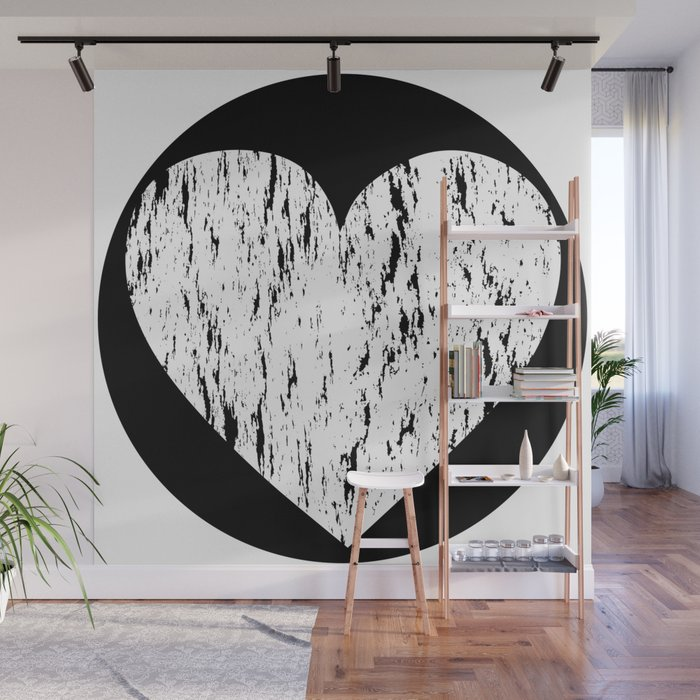 Ghost Paint Heart Wall Mural By Adamandiak
