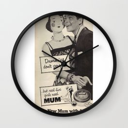 Dummies Don't Perspire Wall Clock