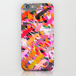 WILD SIDE ANIMAL ABSTRACT SURFACE PATTERN  iPhone Case