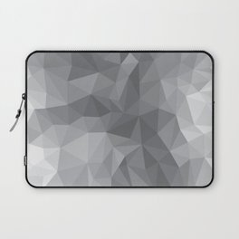 Gray Polygon Background Laptop Sleeve