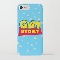 gym iPhone & iPod Cases featuring Gym Story by SuperPrints