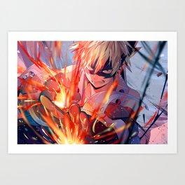 My Hero Academia - Bakugou Art Print