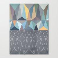 nordic Canvas Prints featuring Nordic Combination 31 by Mareike Böhmer