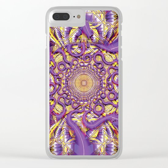 Ethereal Language Clear iPhone Case