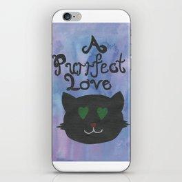 A Purrfect Love iPhone Skin